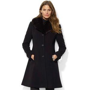 Lauren Ralph Lauren Coat with Faux Fur Collar